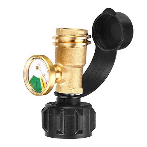Huamengyuan gas bottle adapter, outdoor camping gas tank inflation adapter gas bottle adapter light gauge brass American standard adapter