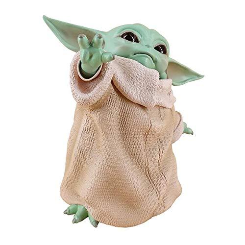 YUEFF Baby Yoda Plüschtiere,8cmThe Mandalorien Dekoration Puppe Action-Figuren-Spielzeug Kinder Crafts