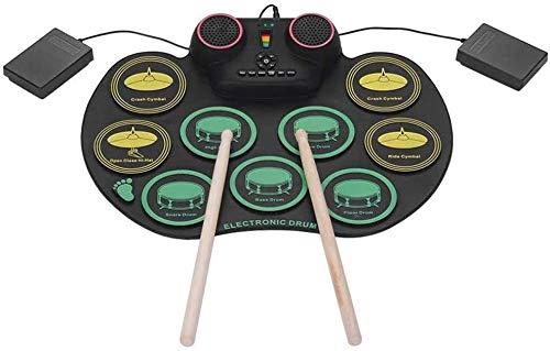 Conjunto de tambores electrónicos Roll-UP DIGITAL 10 Silicon Drum Pads Instrumentos de...