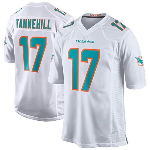 POAA Ryan Tannehill 17 Miami Dolphins Rugby Kleidung Herren Damen, Student Herren Fußball Trikot Anhänger Sportswear S-3XL-White-XL