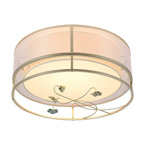 Hongbanlemp Simple moderno estilo chino redondo tela LED lámpara de techo dormitorio salón personalidad creativa lámparas