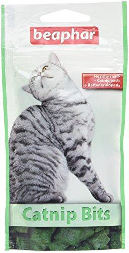 Beaphar - Catnip Bits - Friandise à l'herbe à chat - 35 g - Lot de 18