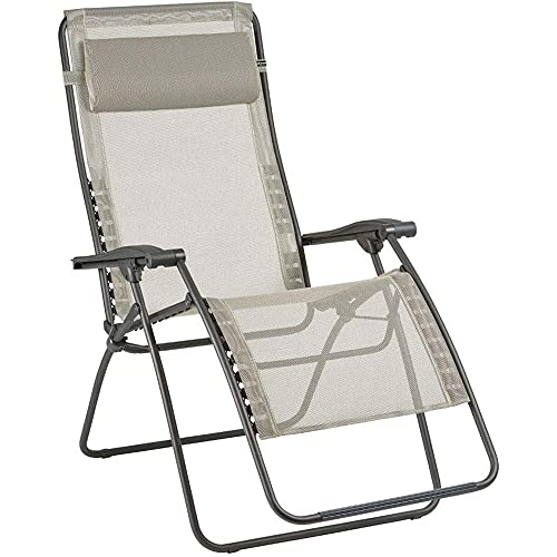 Lafuma Relax-Liegestuhl, Klappbar und verstellbar, RSXA Clip XL, Batyline, Farbe: Seigle, LFM2040-8548