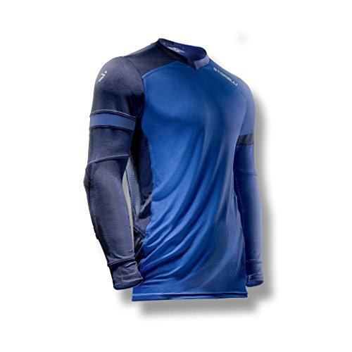 Storelli ExoShield Gladiator Goalkeeper Jersey | Padded Elbow Sleeves | Lightweight Soccer Jersey Shirt | Hydra | Youth Large