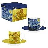 Van Gogh, 2 tazas con dibujos de 'La Noche Estrellada' y 'Los Girasoles', Enesco