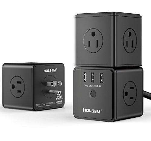 HOLSEM Power Cube Surge Protector 14 AC outlets, 3...