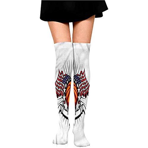 Dydan Tne Frauen-schöner bunter Socken-Sport, Kunst des amerikanischen Fußballs Hanes