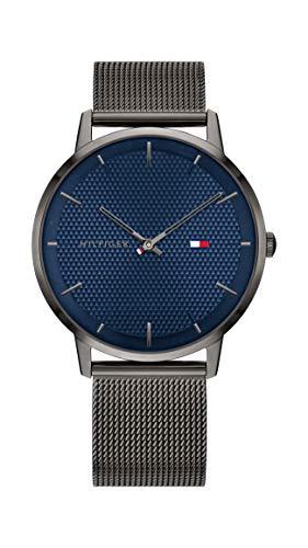Tommy Hilfiger Herren Analoger Quarz Uhr mit Edelstahl Armband 1791656