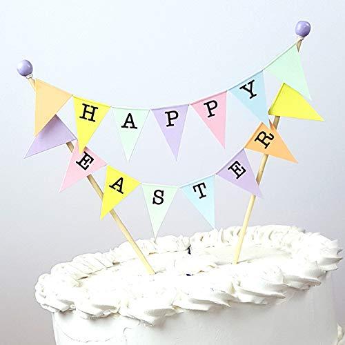 amazing buntings, Happy Easter, Frohe Ostern Kuchen Topper , Tischdekoration, Vollständig Zusammengebaut