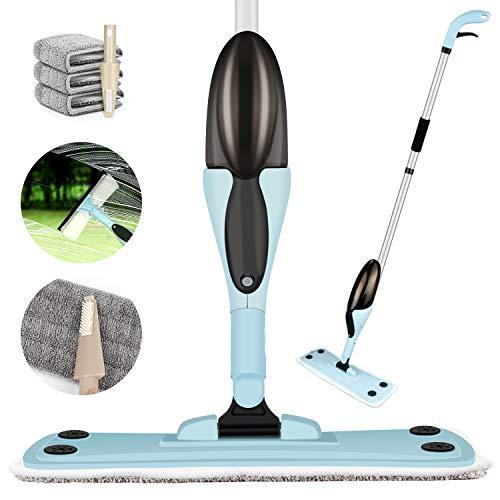 Yomao Wischmopp Sprühwischer, Spray Bodenwischer Sprühwischer Mop & Fensterwischer Window Cleaner 2-in-1, Spray Mop mit Wassertank und Sprühfunktion für Schnelle Reinigung