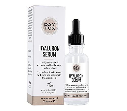 DAYTOX Hyaluron Serum - Suero Hialurónico Antioxidante con Efecto Instantáneo - Vegano - Sin Colorantes, sin Silicona y sin Parabenos - 1 x 30 ml