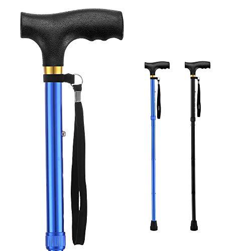 Folding Walking Canes for Women Cane /Elderly Men Lightweight Aluminum Collapsible Cane Adjustable Walking Stick with Ergonomic Handle and Wrist Strap