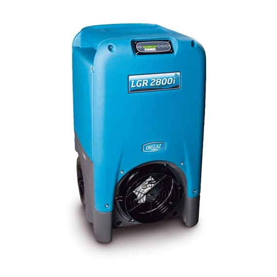 Low-Grain Portable Dehumidifier,200 pt,Blue/Gray,1 Speeds 1 Amps: 8.7; Application: Dehumidification and Drying; Refrigerant Charge: 26.5 oz.