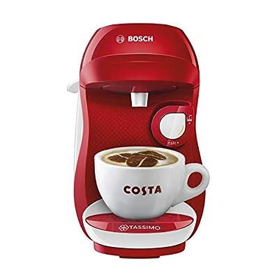TASSIMO Bosch Happy TAS1006GB Coffee Machine 1400 Watt, 0.7 Litre - Red/White