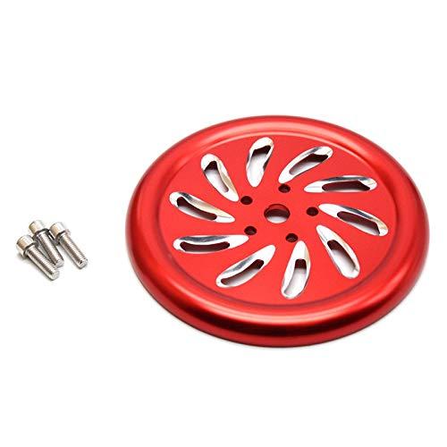 CHENWEI- CNC Accessori per motocicli di Alluminio Cover del Motore Protector Guardia del radiatore per Piaggio Vespa GTS300 GTS250 LXV150 LXV125 (Color : Red)