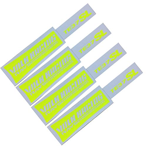 Decal Compatible with Rays Volk te37SL 17-19 inches Wheels (Fluorescent Yellow)