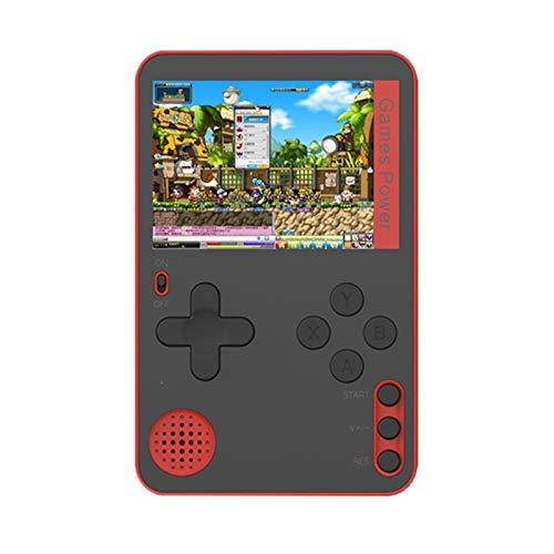 SNOWINSPRING Consola de Juegos PortáTil Consola de Juegos de Cartas Ultrafina Consola de Videojuegos Retro PortáTil Buenos Regalos para Ni?Os y Adultos-Rojo