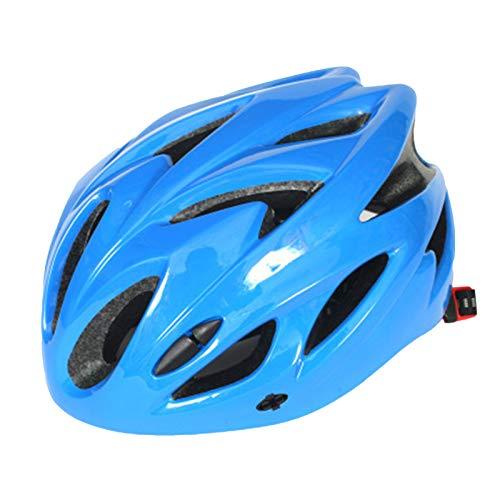fuchsiaan Casco De Bicicleta Unisex para Adultos, Transpirable, Desmontable, Ajustable, con Orificios De Ventilación, para Ciclismo Bicicletas De Montaña, Bici De Carretera, BMX, Azul