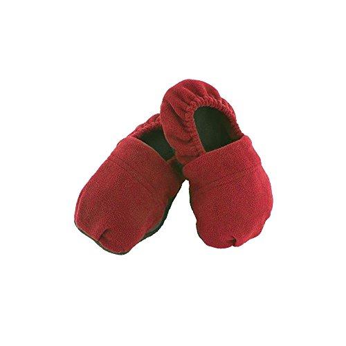 Shop-STORY – beheizbare Hausschuhe mit Mikrowellen, für Herren und Damen, 36 – 45 (elastischer Stoff) – Rot