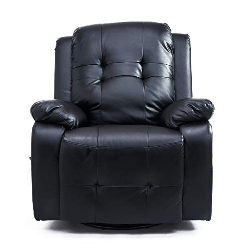 XYAN Multifunktion Einstellbar Sanft Komfortabel Liege Sofa Massagesessel Mit Heizung, Fernsehsessel Mit Fernbedienung, Schwarzer Stuhl, Geeignet Für Zuhause, Büro, Schlafzimmer