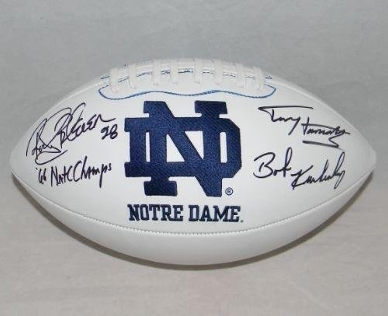 Rocky Bleier Terry Hanratty Bob Kuechenberg Signed Notre Dame Logo Football Coa  Autographed College Footballs