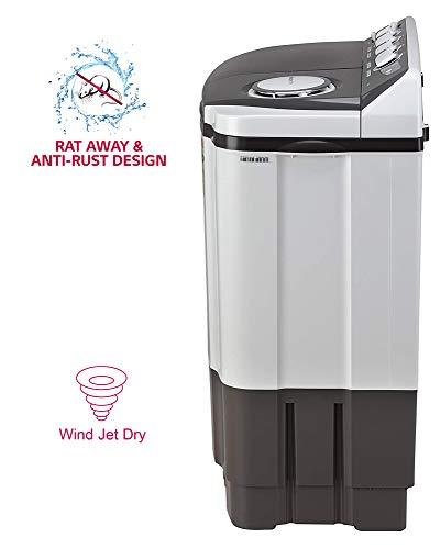 LG 7 Kg 4 Star Semi-Automatic Top Loading Washing Machine (P7020NGAY, Dark Gray, Collar scrubber) 6