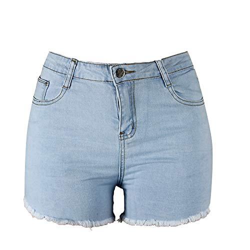 KYZRUIER Damen-Jeans, gerade, hochgeschnitten, hohe Taille, einfarbig, gerade Gr. XL, blau