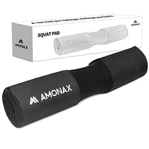 Amonax almohadilla barra gimnasio protector, Cuello y Hombros protección Almohadilla para Sentadillas y Empuje de Cadera, para ejercicios en casa y en el gimnasio, entrenamiento de fuerza y pesas