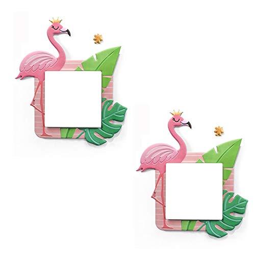 N\A Flamingo-Lichtschalter-Aufkleber für Kinder, 3D-Aufkleber, für Zuhause, entfernbar, 2 Stück