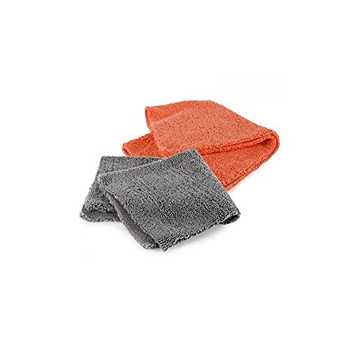 Kleeno by Cello Versatile Microfiber Cloth, 2pc, Grey and Orange