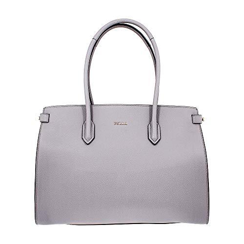 Furla Pin Ladies Medium Gray Onice Leather Tote 977688