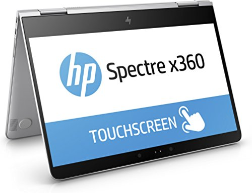HP Spectre x360 (13-w000ng) 33,8 cm (13,3 Zoll) FHD-IPS-Touchscreen Convertible Notebook (Intel Core i5-7200U, 8 GB RAM, Intel HD-Grafikkarte 620, 256 GB SSD, Windows 10 Home 64) silber