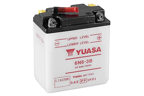 Motorrad Batterie YUASA 6N6-3B, 6V/6AH (Maße: 99x57x111)