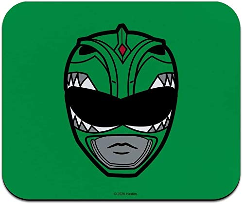Power Rangers Tapis de souris fin et discret Motif casque de Ranger Vert