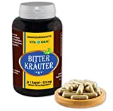 VITA IDEAL ® Bitter Kräuter 360 Kapseln je 520mg, mit Beifuß, Wermut, Gewürznelken, Basilikum, Rosmarinblätter, Thymianblätter, ohne Zusatzstoffe