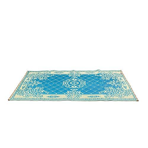 FANMEX - Fantastik - Umkehrbarer Kunststoffteppich aus Indien - 90 x 180 cm - Modell Punkte (Hellblau)