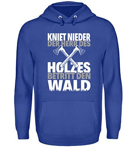 Kniet - Sudadera con capucha unisex con capucha azul real XXXL