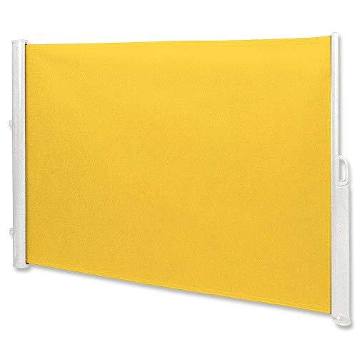 Jawoll Seitenmarkise 1,8 x 3,5 m gelb Sichtschutz Seitenwandmarkise Windschutz