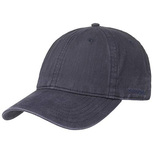 Stetson Ducor Sun Guard Fullcap Herren - Baseballcap aus Bio-Baumwolle (nachhaltig) - Frühjahr/Sommer - Cap mit Sonnenschutz UV 40+ - Basecap Stonewashed-Look - Outdoorcap blau XXL (62-63 cm)