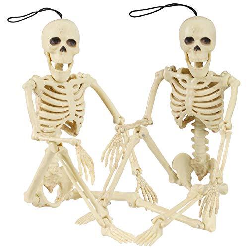 Halloween Skelett, Bewegliches Ganzkörper Skelett, Beweglichen Skelett Spukhaus Requisiten, Ganzkörper bewegliche Gelenke Skelette, Halloween hängende Skelett, Kunststoff Bewegliche Bones Skelett (2)