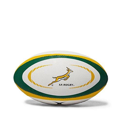 Gilbert Südafrika Internationaler Replica Rugbyball, Weiß, Midi