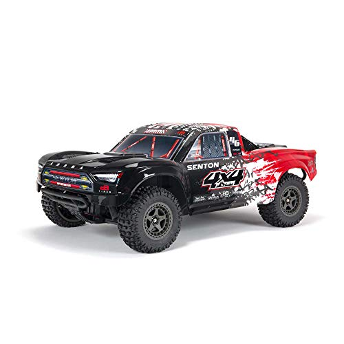 ARRMA 1/10 SENTON 4X4 V3 3S BLX Brushless Short Course Truck RTR (Transmitter and Receiver Included, Batteries and Charger Required), Red, ARA4303V3T2