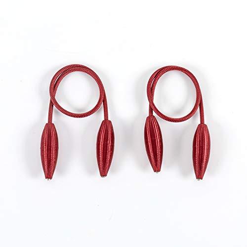 Baomasir 2 Stücke Kreativ Raffhalter Clips Seil Rückwärtige Vorhang Halter Schnallen Gardinenhalter für Haus Dekoration, Rot