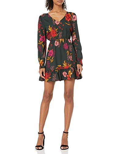Jack by BB Dakota Women's Printed Dress, Winter Pine, Medium