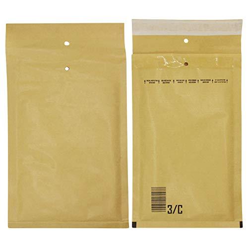 D2D | VPE: 100 Stück Versandtaschen - Größe 13/3/C (170x225 mm) in braun - Luftpolsterumschläge/Luftpolstertaschen