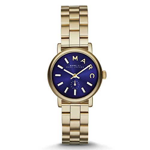 Marc By Marc Jacobs Baker Metallic Blue Dial Gold-tone Ladies Watch MBM3346