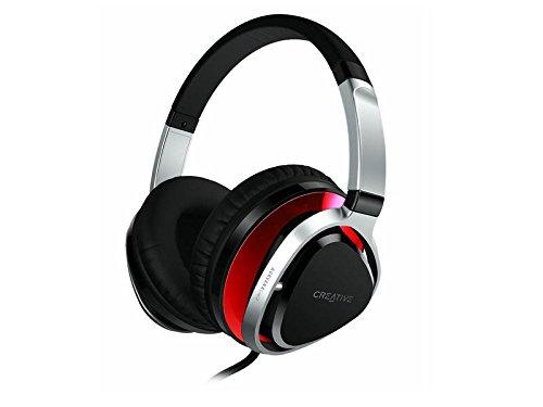 günstig Kreative Aurvana Live2-Kopfhörer mit 40-mm-Treiber und integriertem Mikrofon rot Vergleich im Deutschland