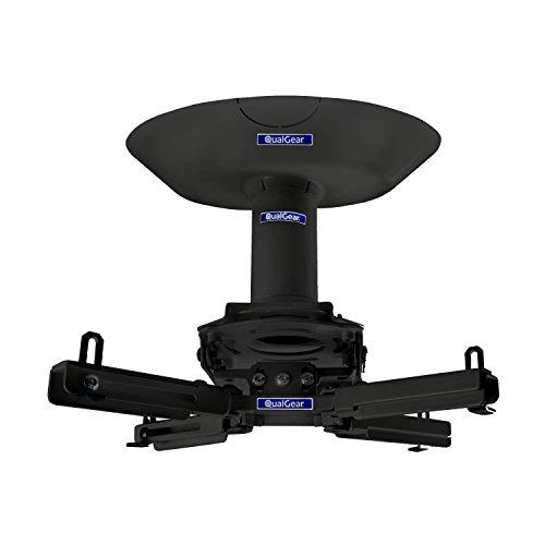 "QualGear Pro-AV QG-KIT-CA-3IN-B Single Joist Ceiling Adapter, 3"" 1.5"" Projector Mount Kit Accessory, Black"
