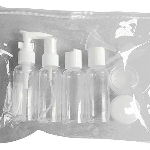 Yihaifu 9pcs Viaje Higiene Recargable plástica Transparente Botella de la Bomba de Botella de jabón dispensador de la loción Reutilizable
