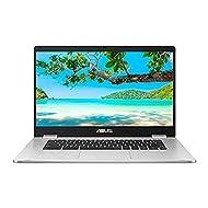 "ASUS 15.6"" ChromeBook C523NA (Intel Celeron N3350, 4 GB RAM, 64 GB eMMC, Chrome OS), Silver"